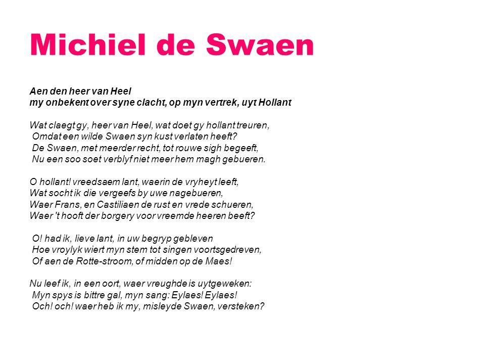 Michiel de Swaen Aen den heer van Heel