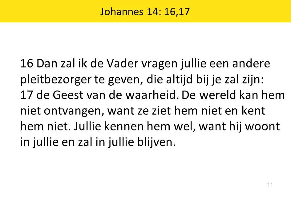 Johannes 14: 16,17