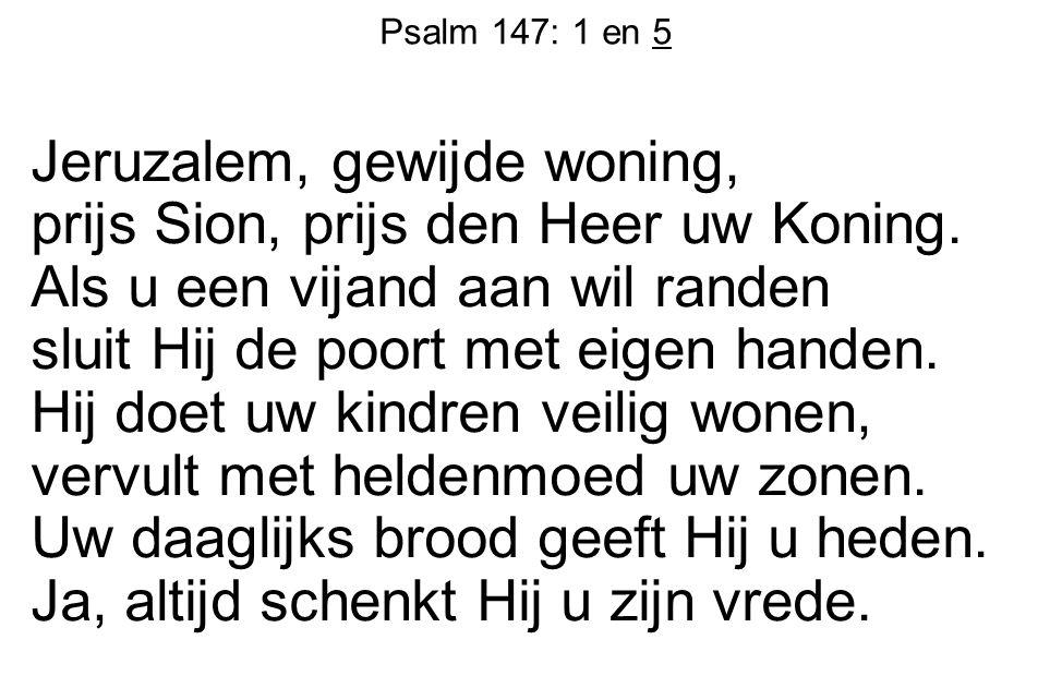 Psalm 147: 1 en 5