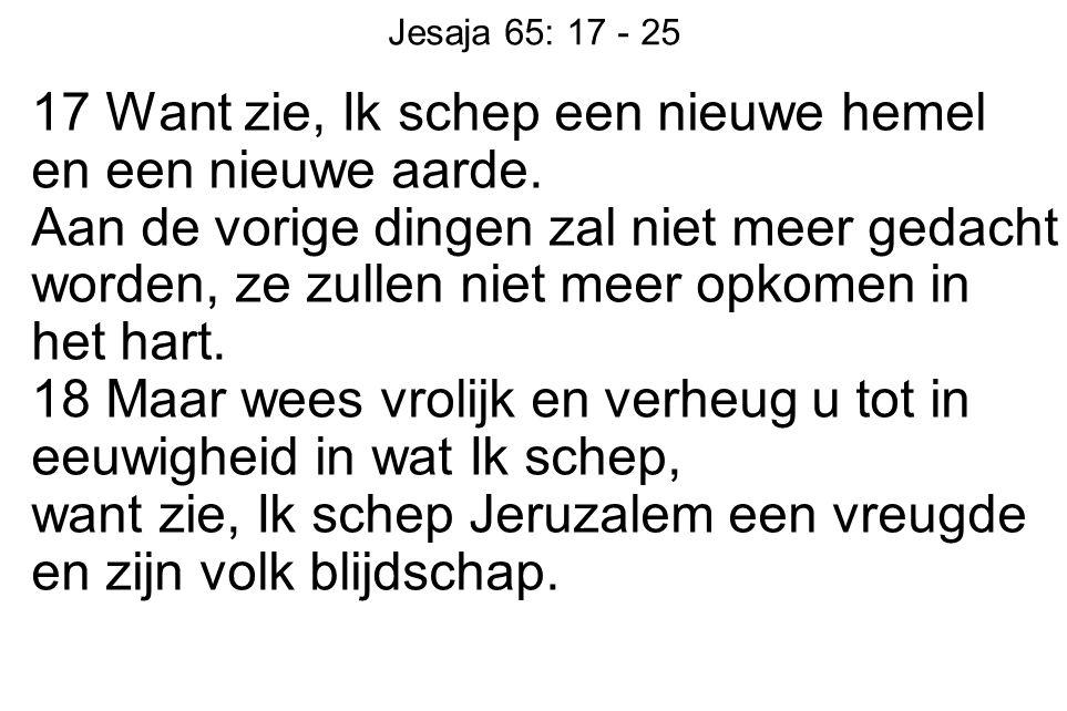 Jesaja 65: 17 - 25