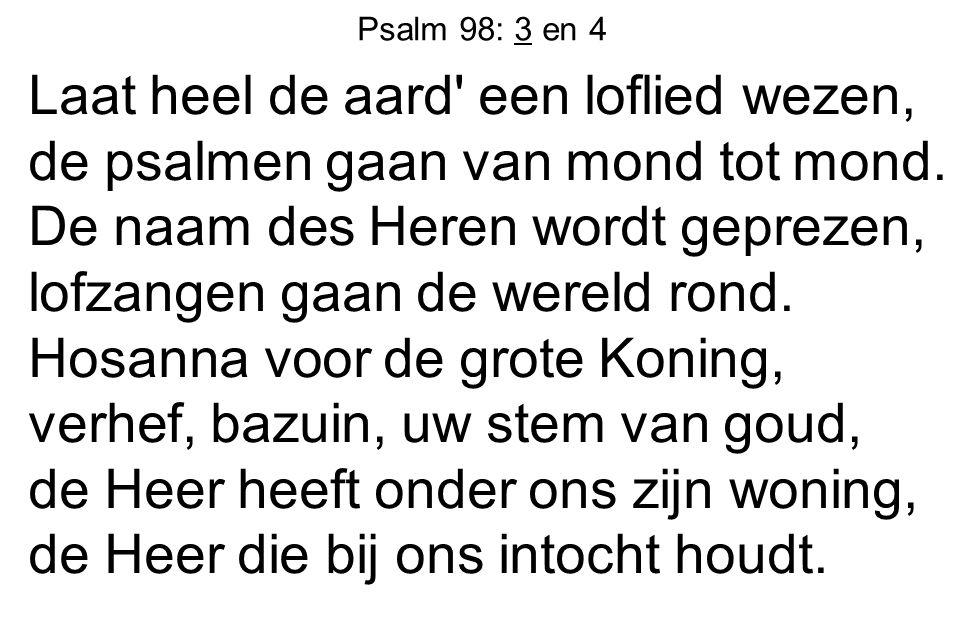 Psalm 98: 3 en 4