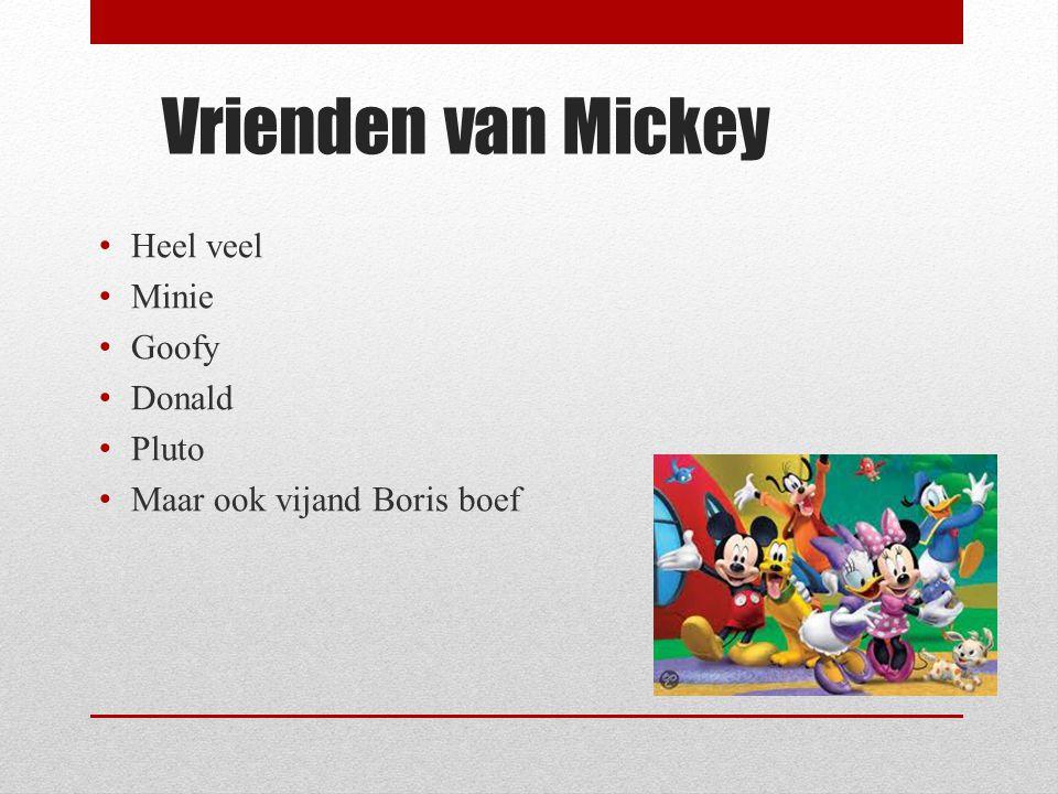 Vrienden van Mickey Heel veel Minie Goofy Donald Pluto