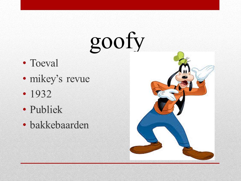goofy Toeval mikey's revue 1932 Publiek bakkebaarden