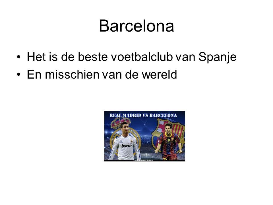 Barcelona Het is de beste voetbalclub van Spanje