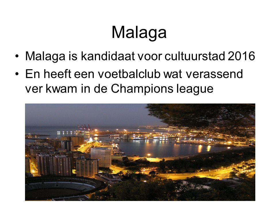 Malaga Malaga is kandidaat voor cultuurstad 2016