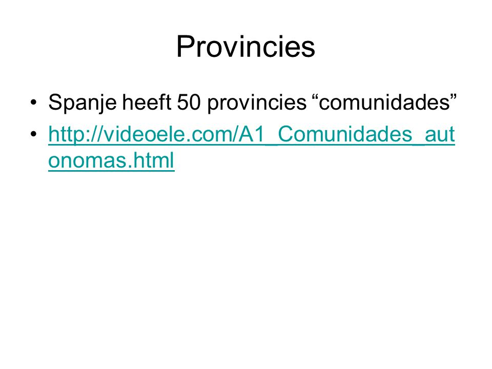 Provincies Spanje heeft 50 provincies comunidades