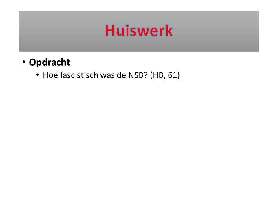 Huiswerk Opdracht Hoe fascistisch was de NSB (HB, 61)