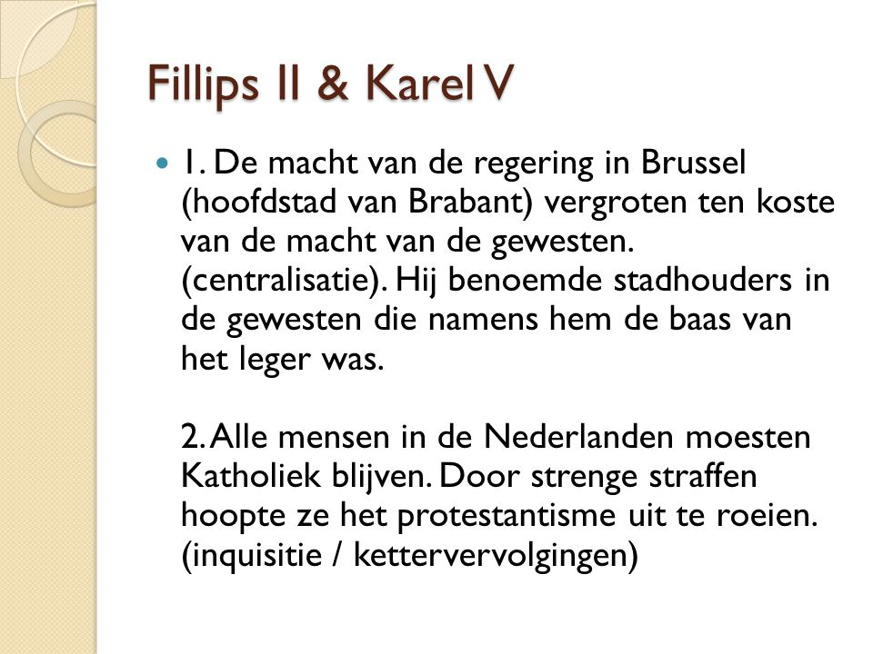 Fillips II & Karel V