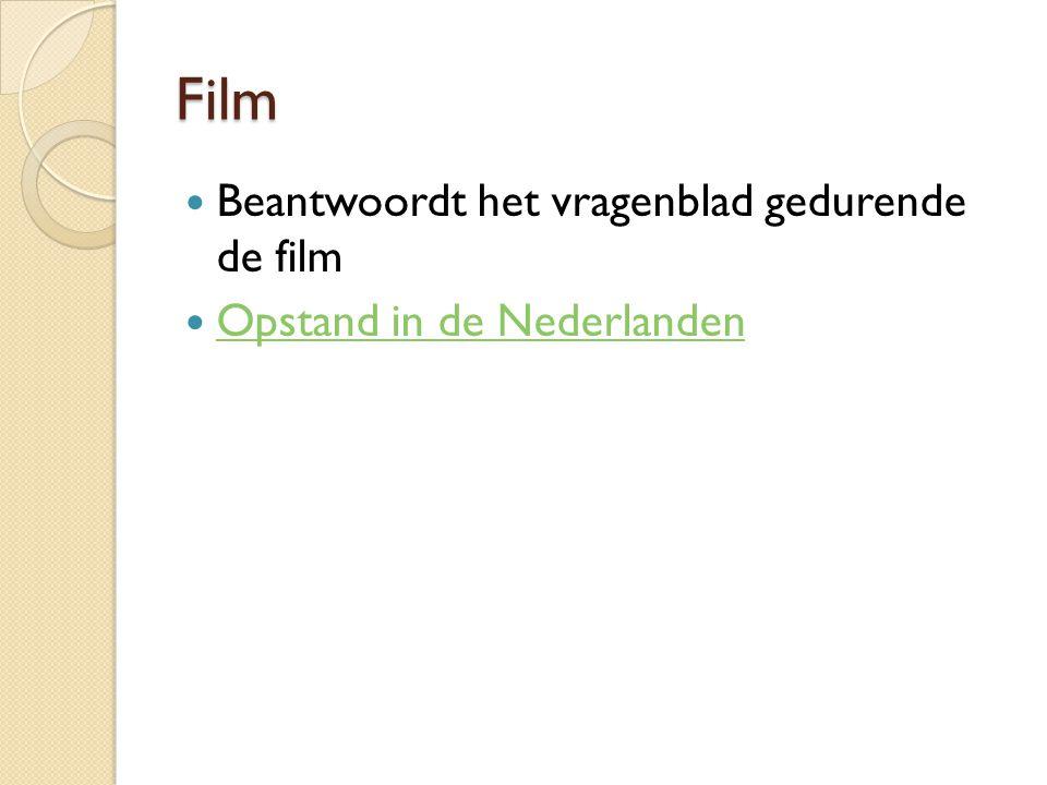 Film Beantwoordt het vragenblad gedurende de film