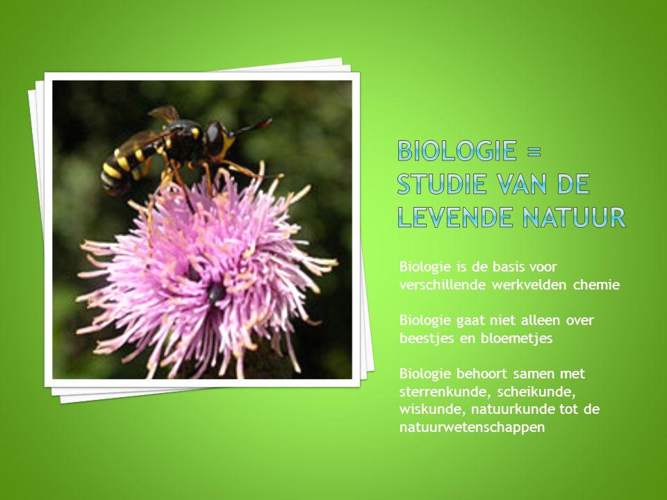 Biologie = Studie van de Levende Natuur