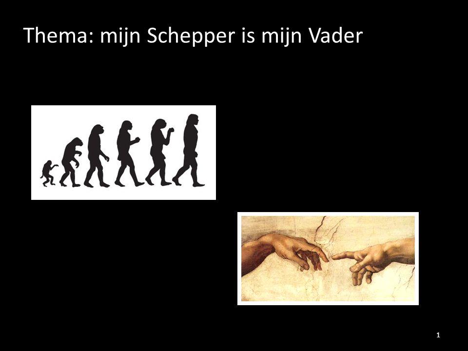 Thema: mijn Schepper is mijn Vader