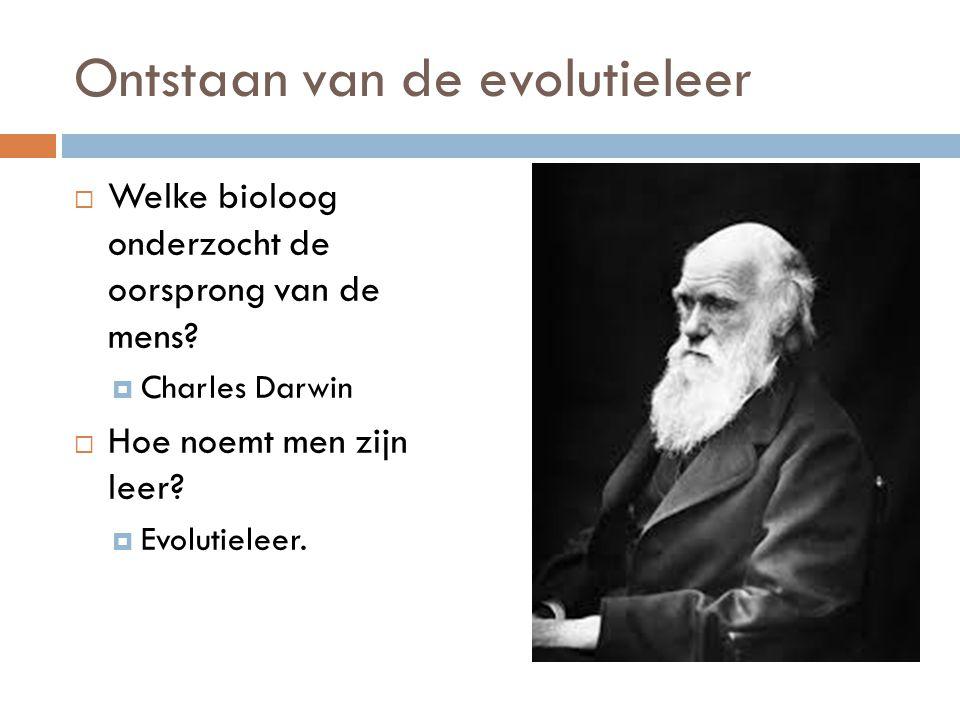 Ontstaan van de evolutieleer