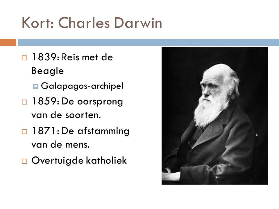 Kort: Charles Darwin 1839: Reis met de Beagle