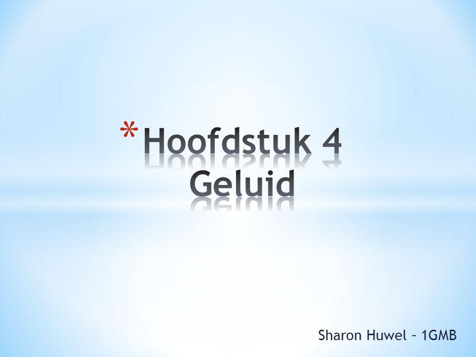 Hoofdstuk 4 Geluid Sharon Huwel – 1GMB