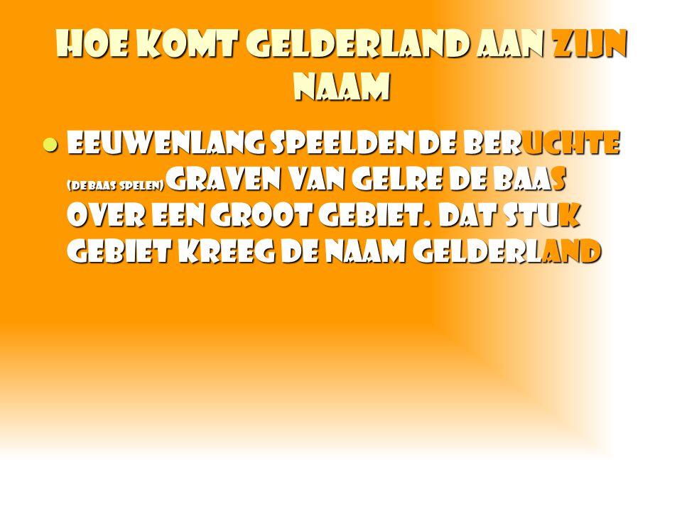 Hoe komt Gelderland aan zijn naam