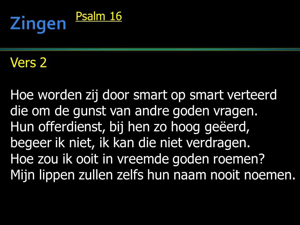 Zingen Vers 2 Hoe worden zij door smart op smart verteerd