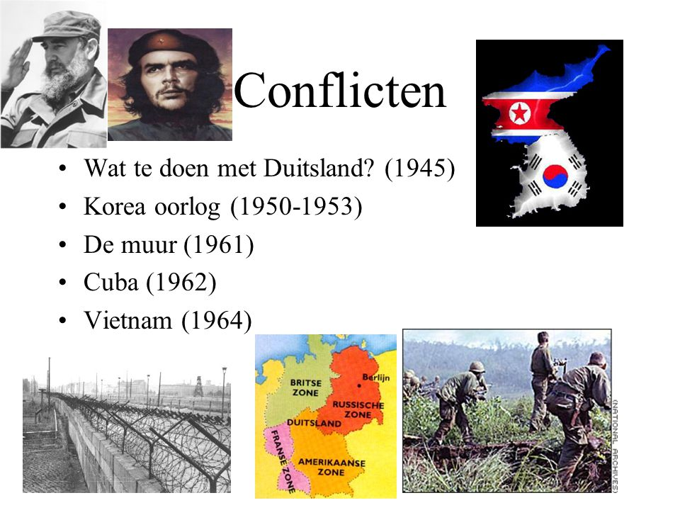 Conflicten Wat te doen met Duitsland (1945) Korea oorlog (1950-1953)