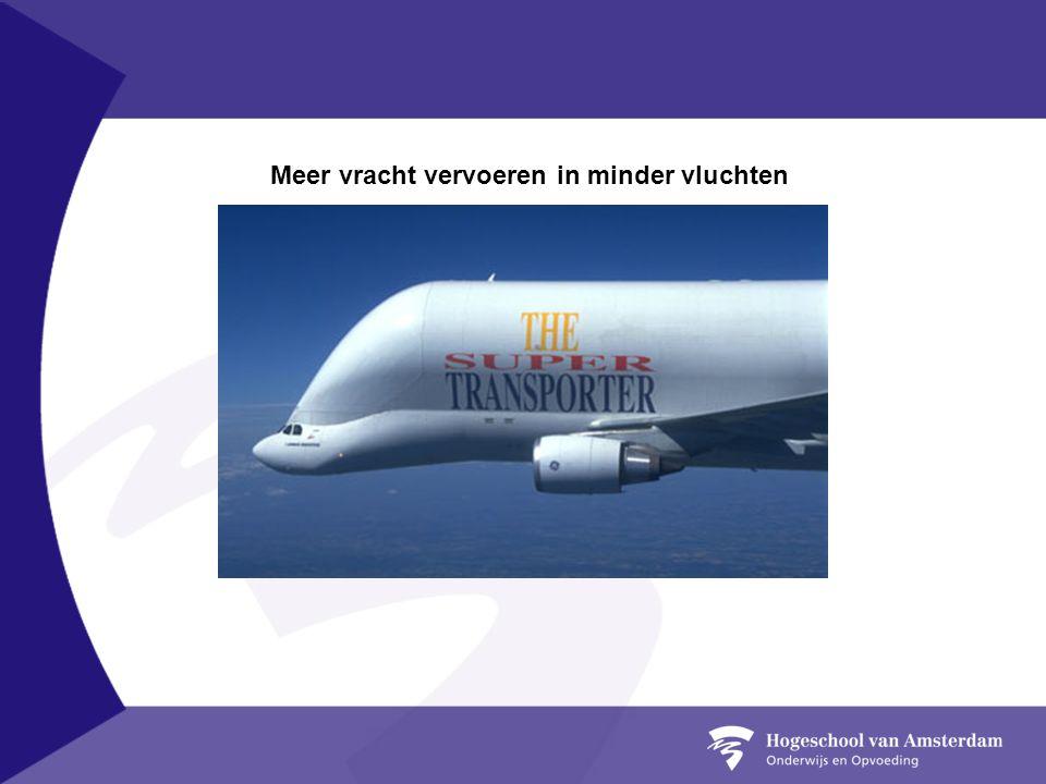 Meer vracht vervoeren in minder vluchten