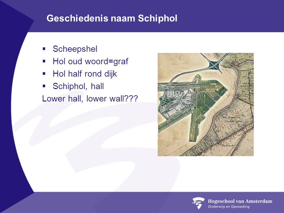 Geschiedenis naam Schiphol