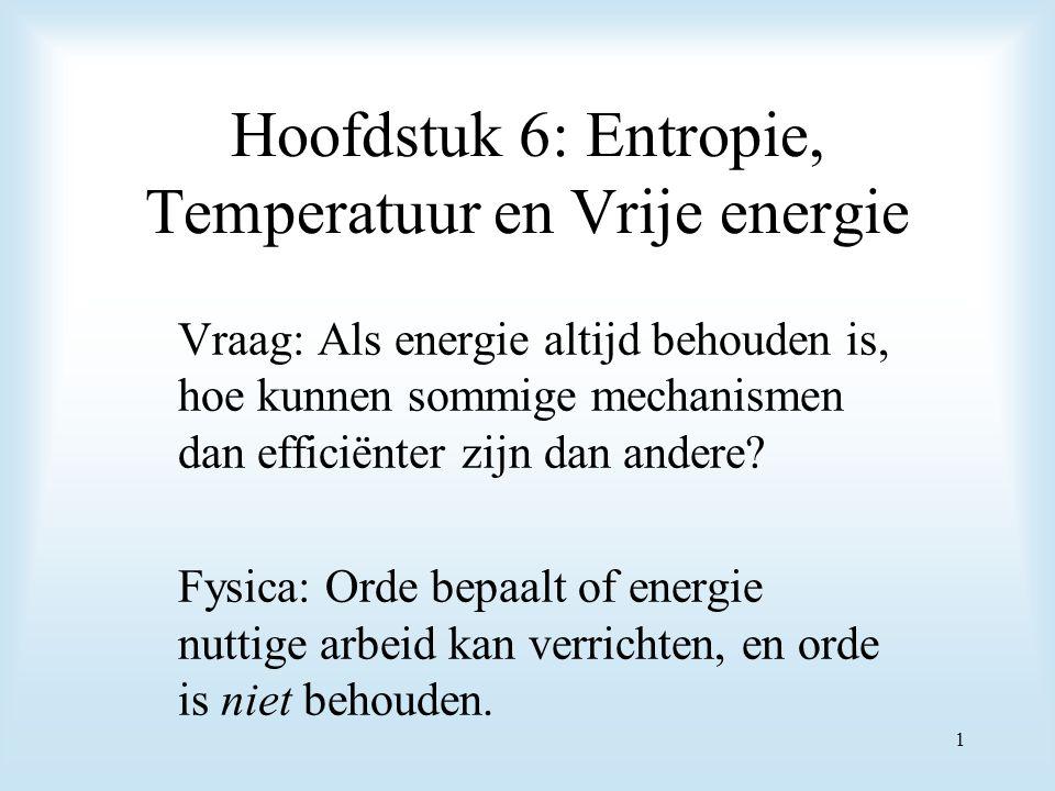 Hoofdstuk 6: Entropie, Temperatuur en Vrije energie