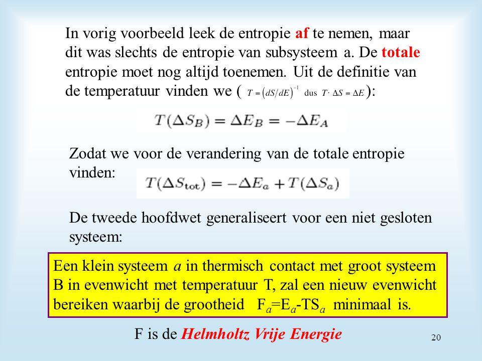 In vorig voorbeeld leek de entropie af te nemen, maar