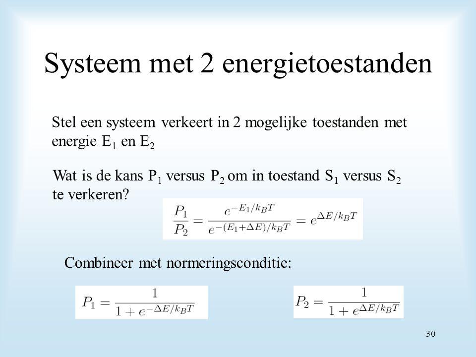 Systeem met 2 energietoestanden
