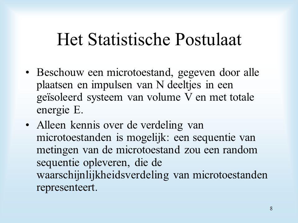 Het Statistische Postulaat