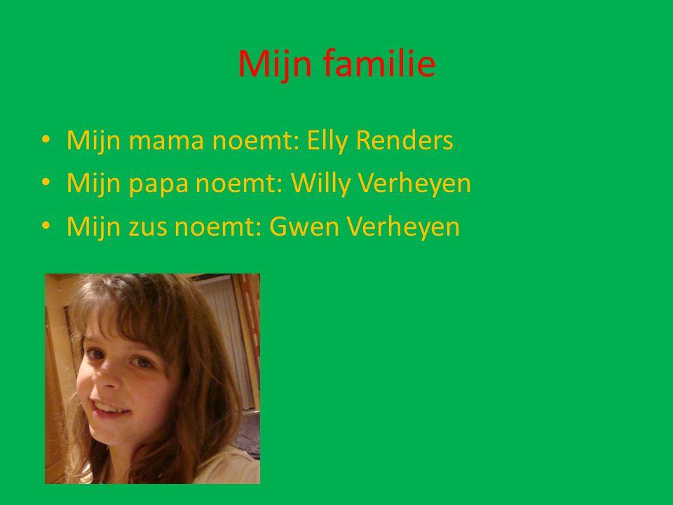 Mijn familie Mijn mama noemt: Elly Renders