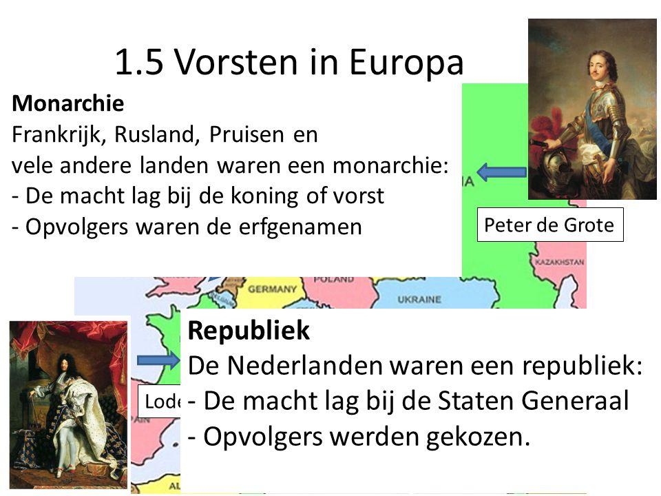 1.5 Vorsten in Europa Monarchie Frankrijk, Rusland, Pruisen en.