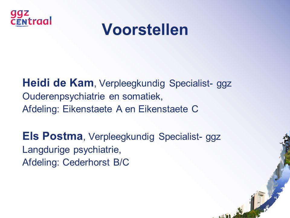Voorstellen Heidi de Kam, Verpleegkundig Specialist- ggz