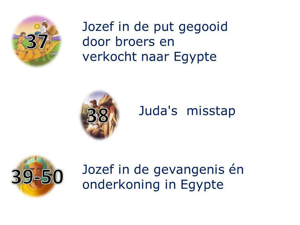 Jozef in de put gegooid door broers en verkocht naar Egypte