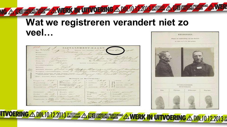 Wat we registreren verandert niet zo veel…