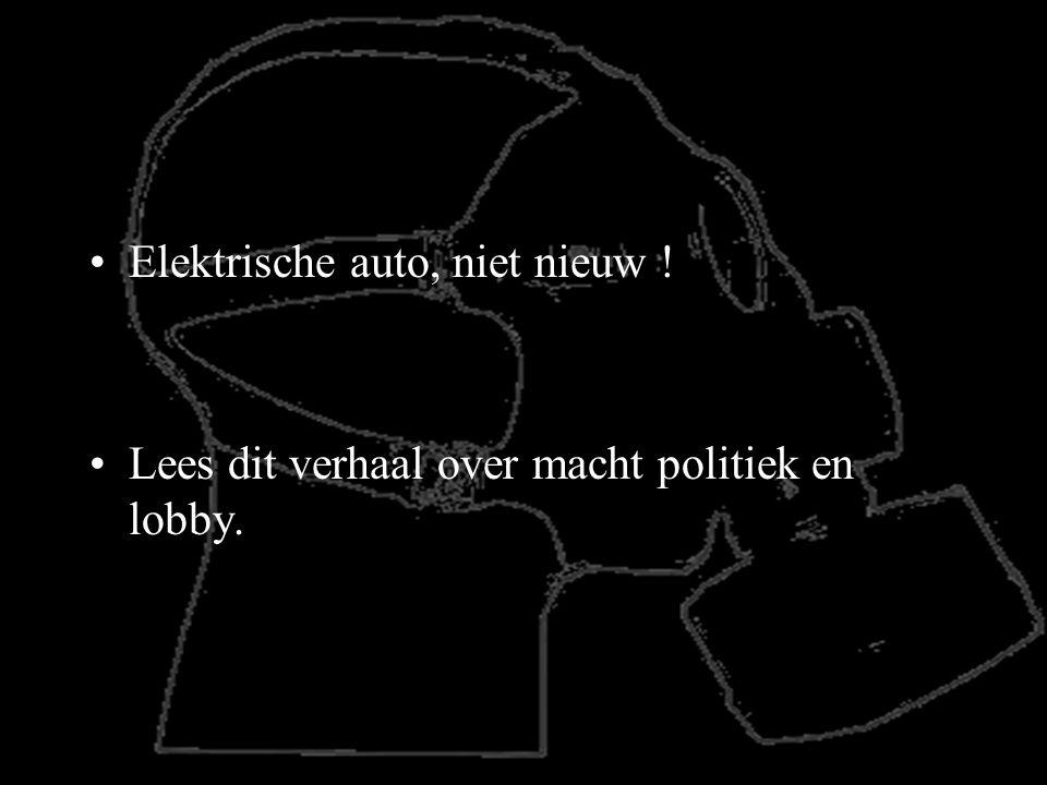 Elektrische auto, niet nieuw !