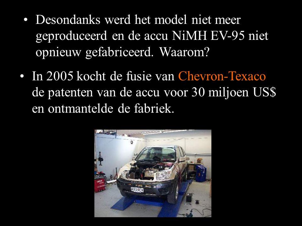 Desondanks werd het model niet meer geproduceerd en de accu NiMH EV-95 niet opnieuw gefabriceerd. Waarom