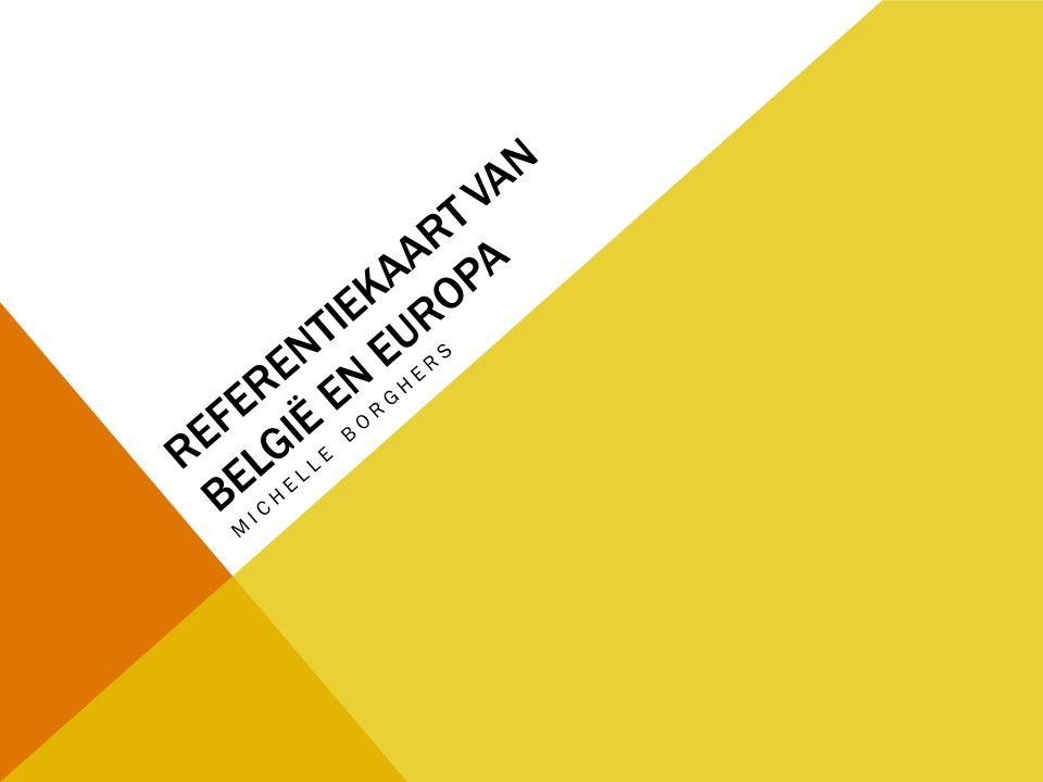 Referentiekaart van bELGIË En europa