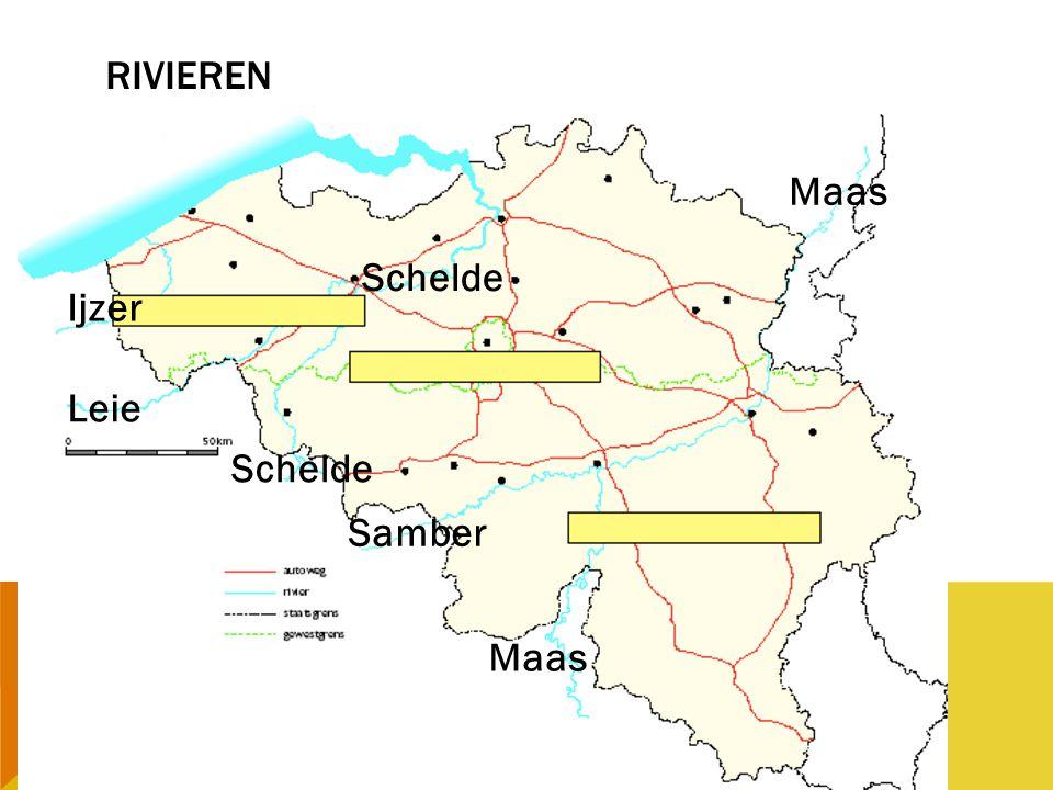 RIVIEREN Maas Schelde Ijzer Leie Schelde Samber Maas