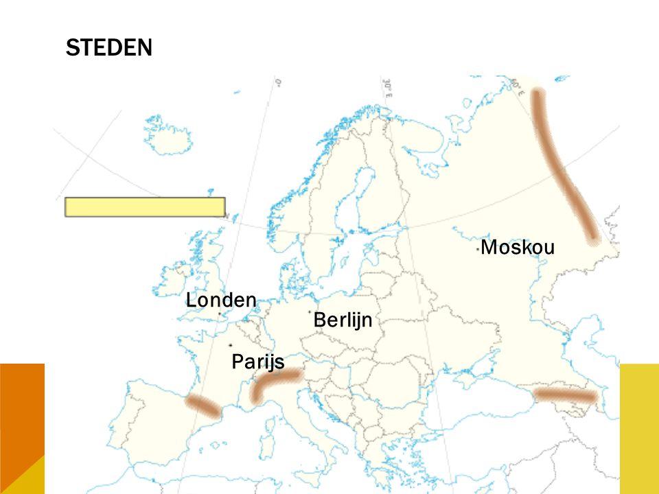 Steden Moskou Londen Berlijn Parijs