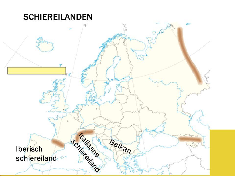 Schiereilanden Iberisch schiereiland Italiaans schiereiland Balkan