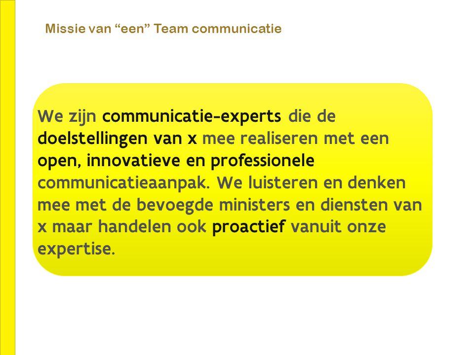 Missie van een Team communicatie