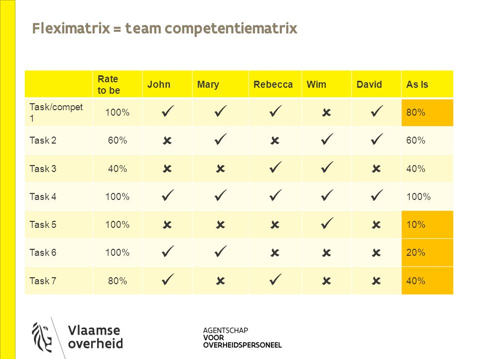 Fleximatrix = team competentiematrix