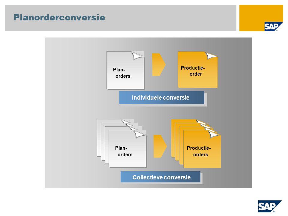Planorderconversie Individuele conversie Collectieve conversie