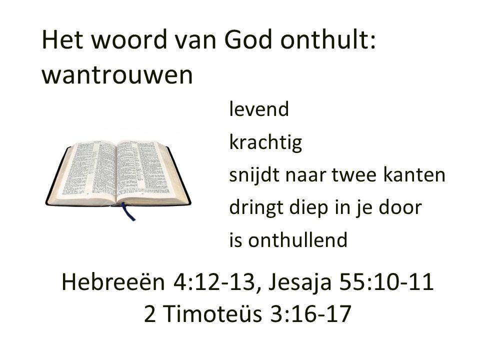 Het woord van God onthult: wantrouwen