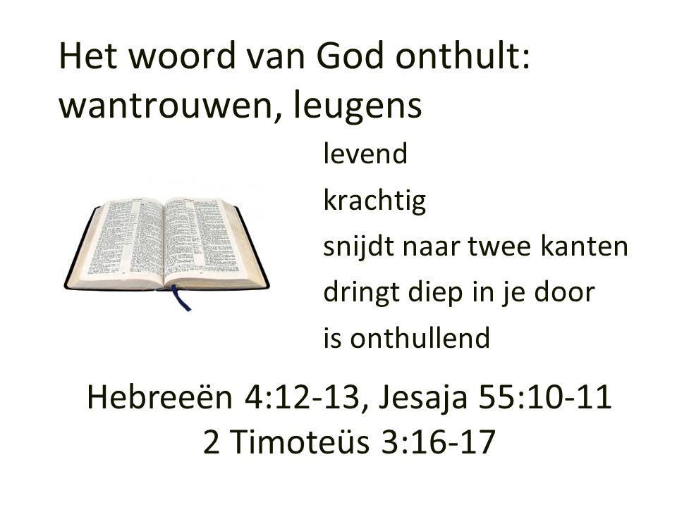 Het woord van God onthult: wantrouwen, leugens
