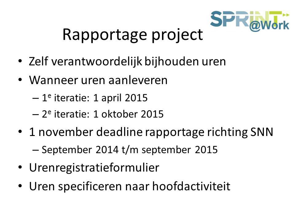 Rapportage project Zelf verantwoordelijk bijhouden uren