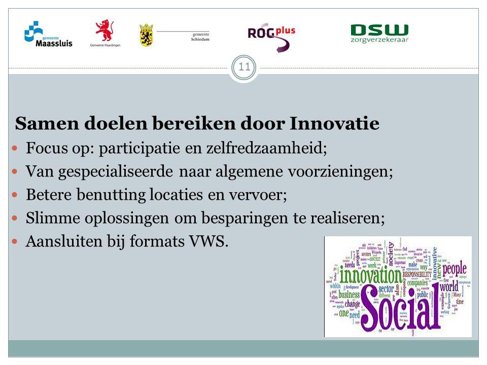 Samen doelen bereiken door Innovatie