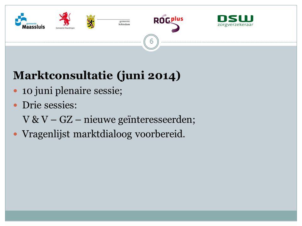 Marktconsultatie (juni 2014)