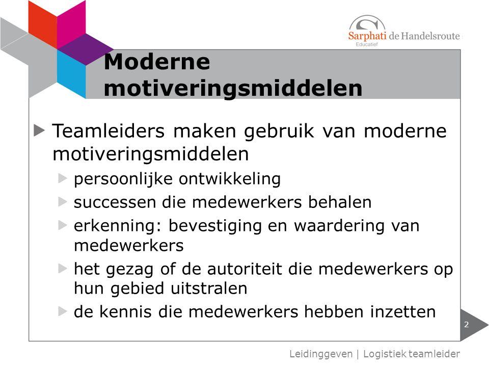 Moderne motiveringsmiddelen