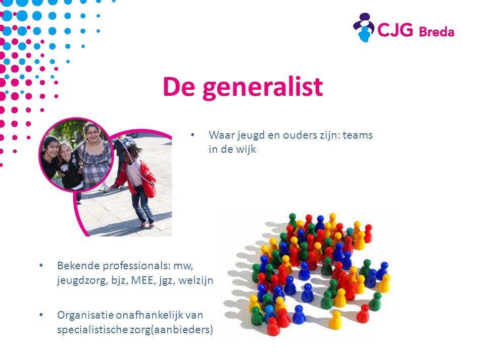 De generalist Waar jeugd en ouders zijn: teams in de wijk