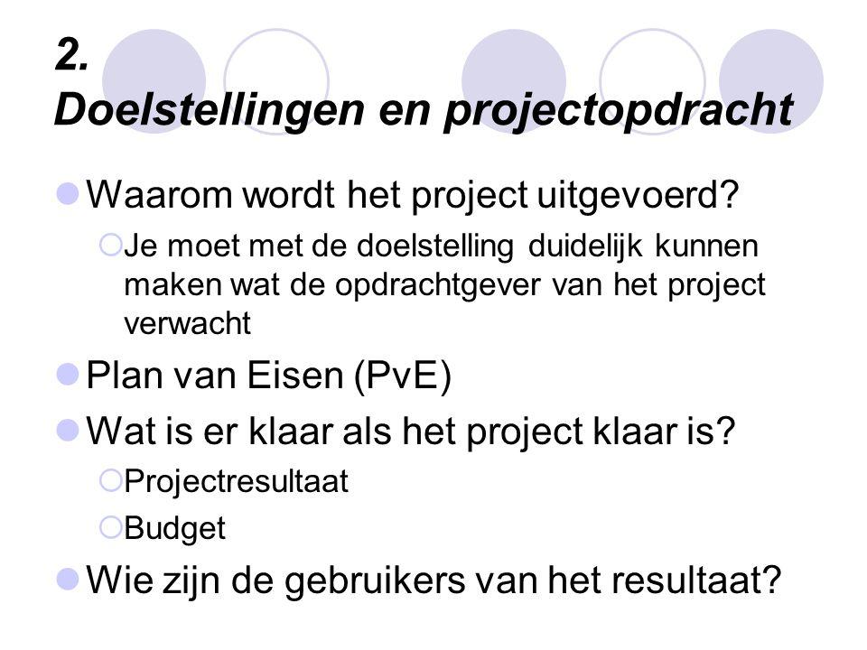 2. Doelstellingen en projectopdracht