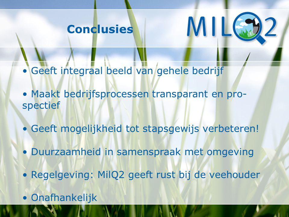 Conclusies • Geeft integraal beeld van gehele bedrijf